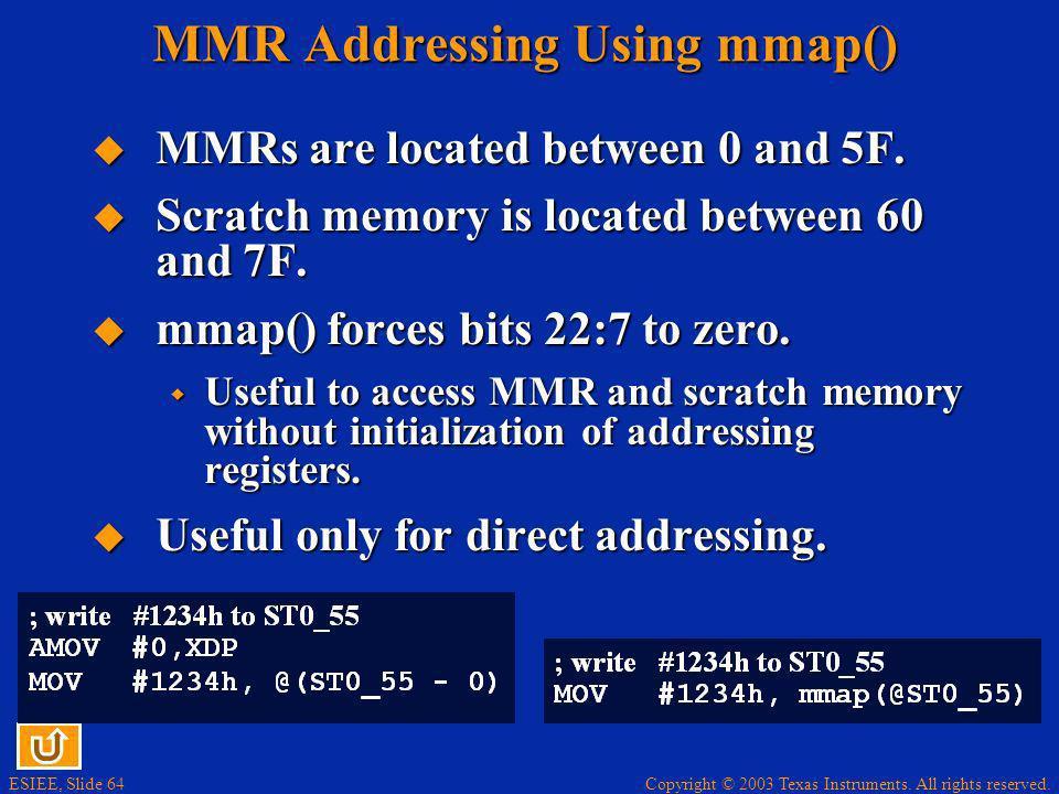 MMR Addressing Using mmap()