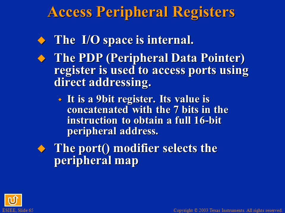 Access Peripheral Registers