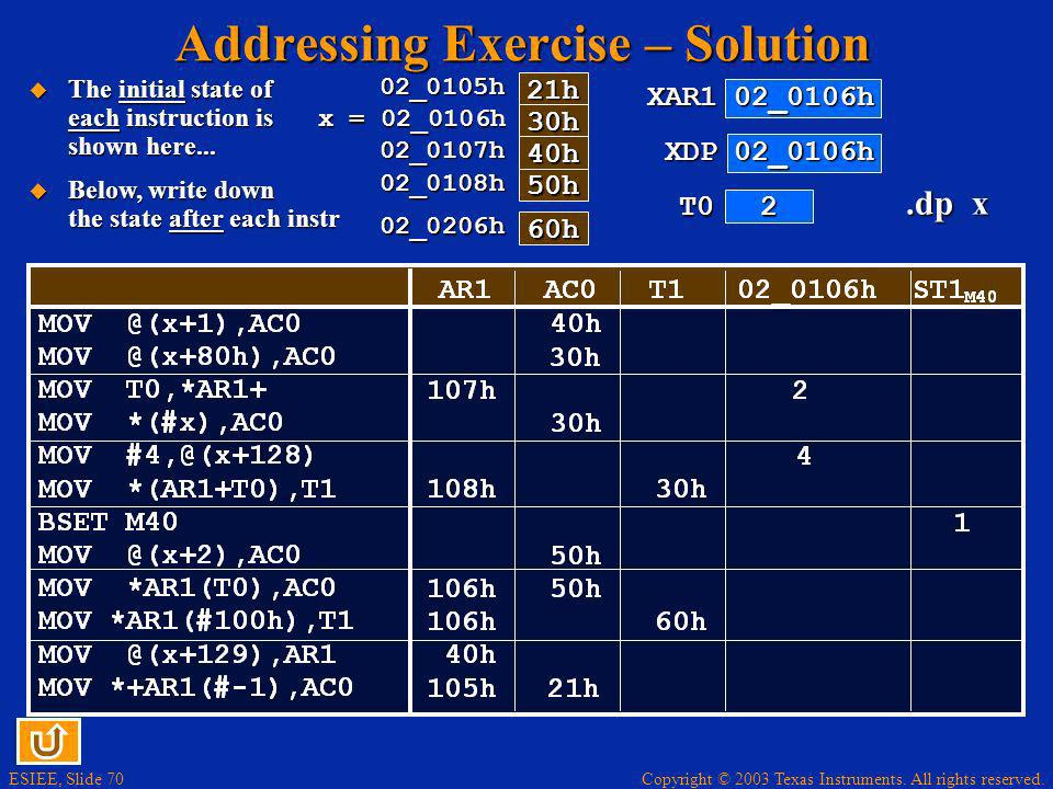 Addressing Exercise – Solution