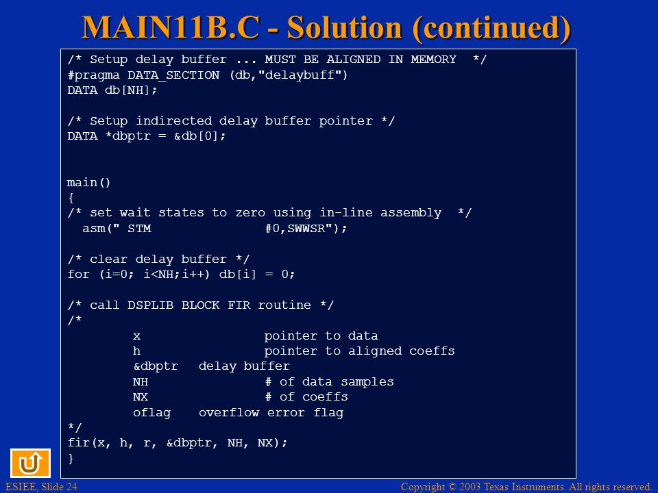 MAIN11B.C - Solution (continued)