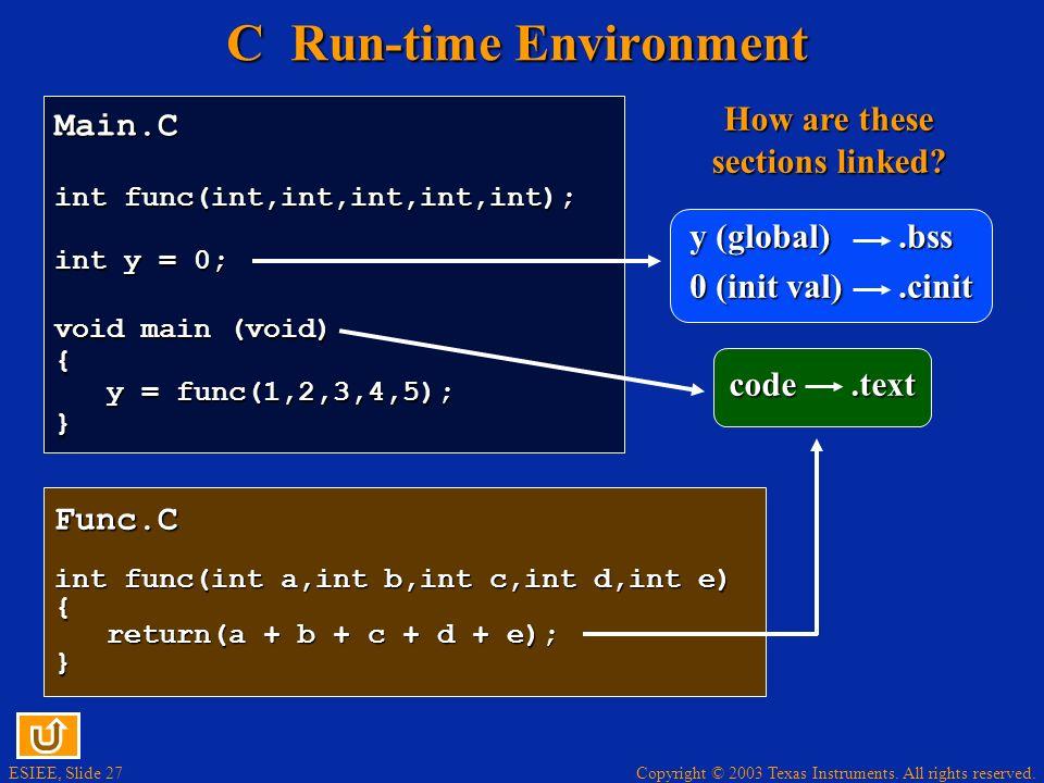 C Run-time Environment