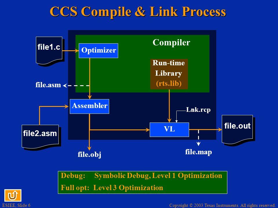 CCS Compile & Link Process