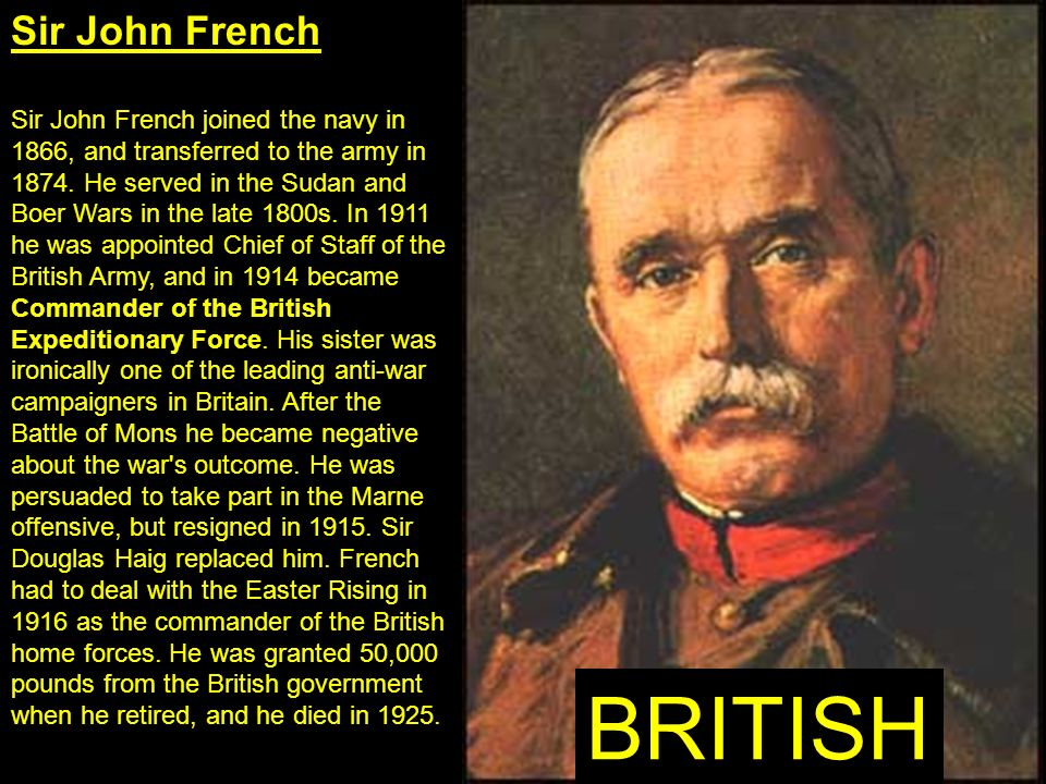 BRITISH Sir John French