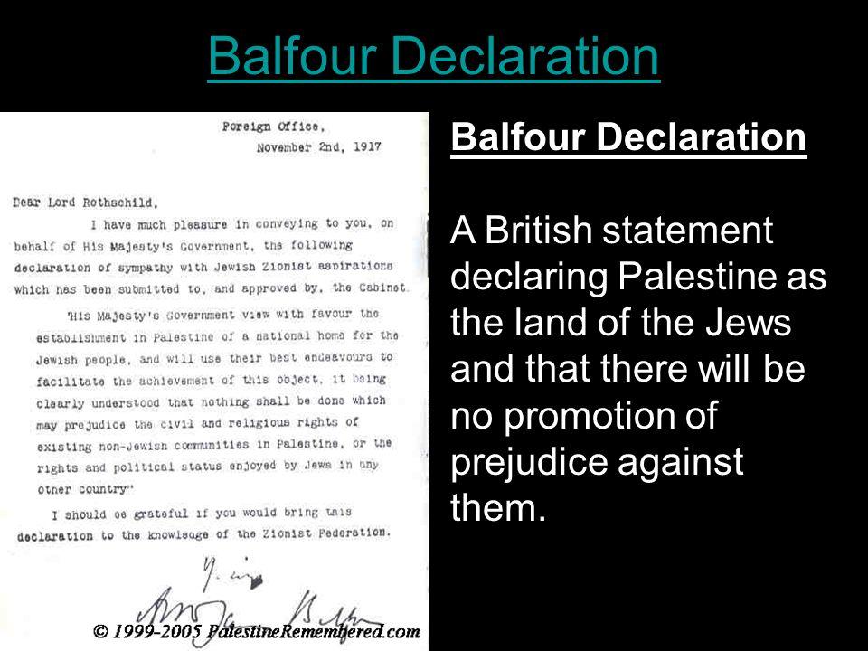Balfour Declaration Balfour Declaration