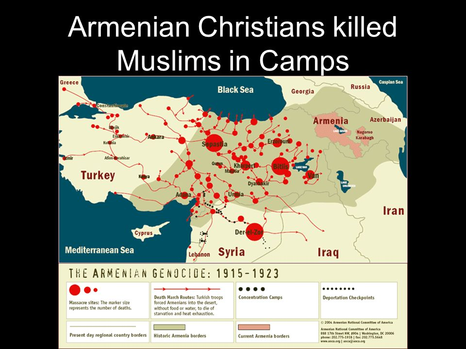 Armenian Christians killed Muslims in Camps