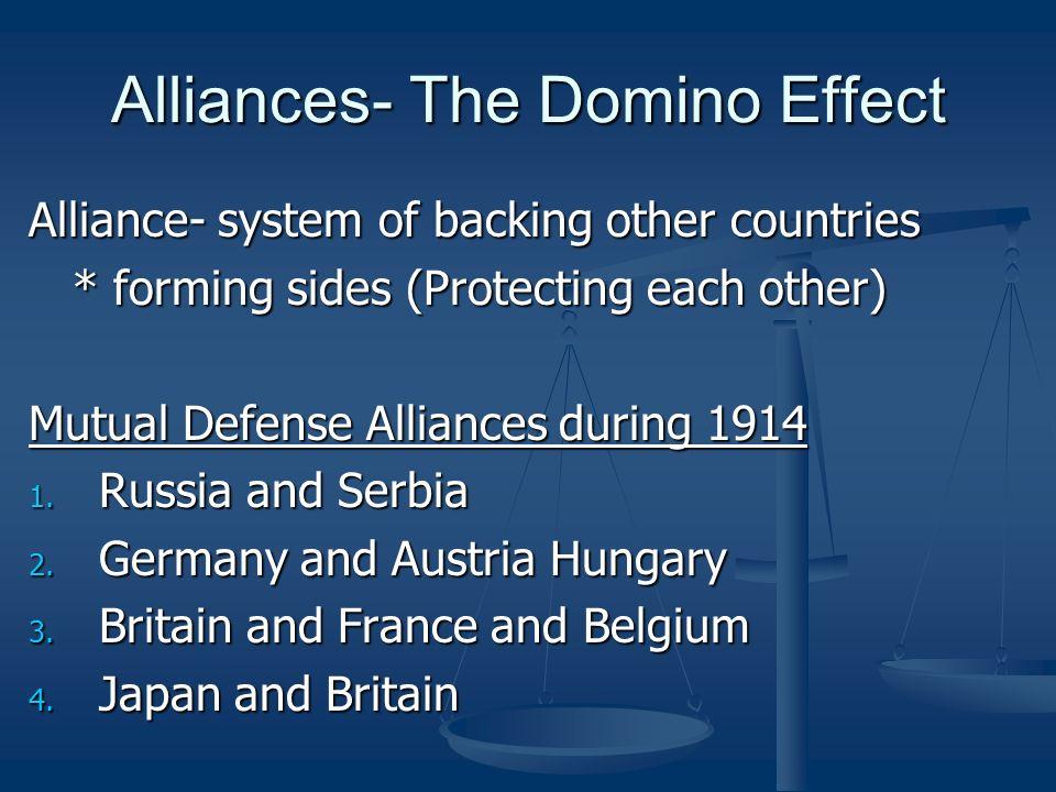 Alliances- The Domino Effect