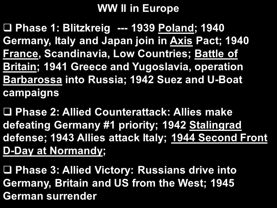 WW II in Europe