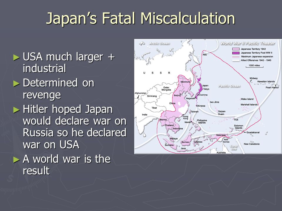 Japan's Fatal Miscalculation