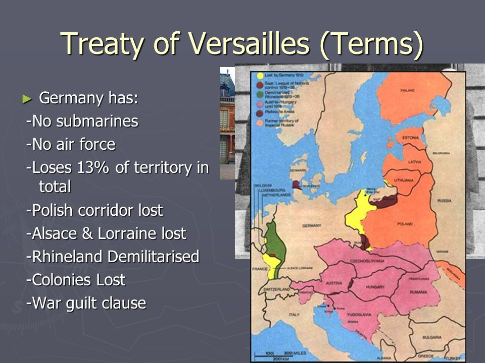 Treaty of Versailles (Terms)