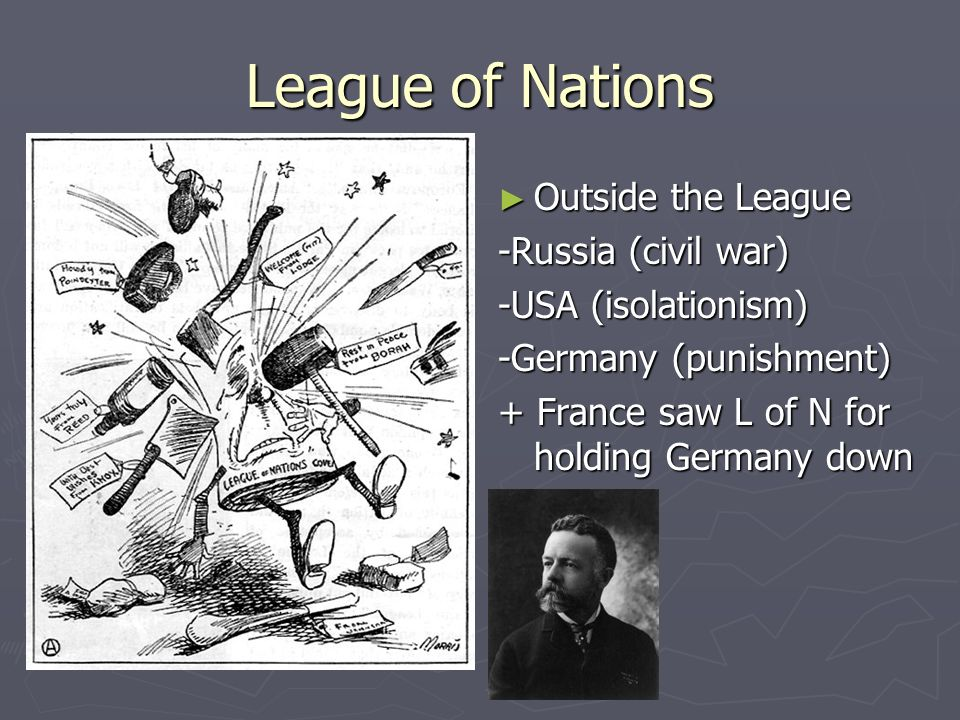 League of Nations Wilson's idea Sought lasting peace