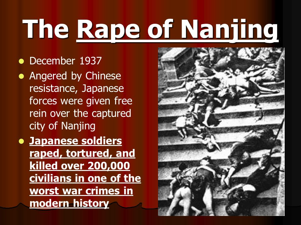 The Rape of Nanjing December 1937