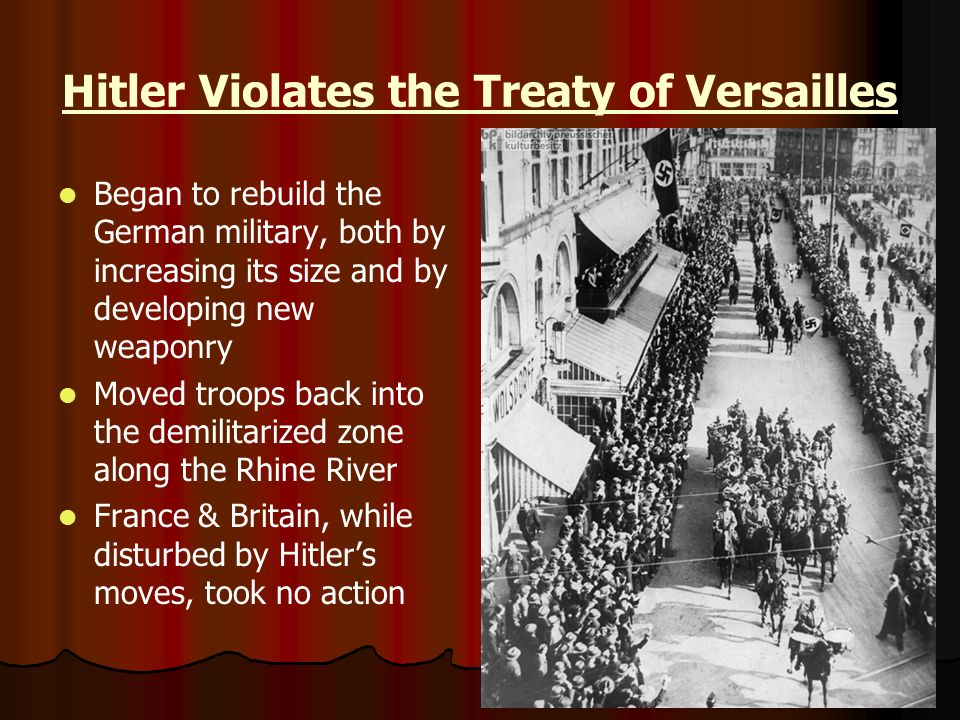 Hitler Violates the Treaty of Versailles