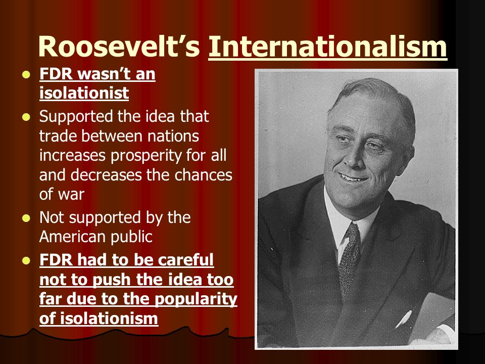 Roosevelt's Internationalism