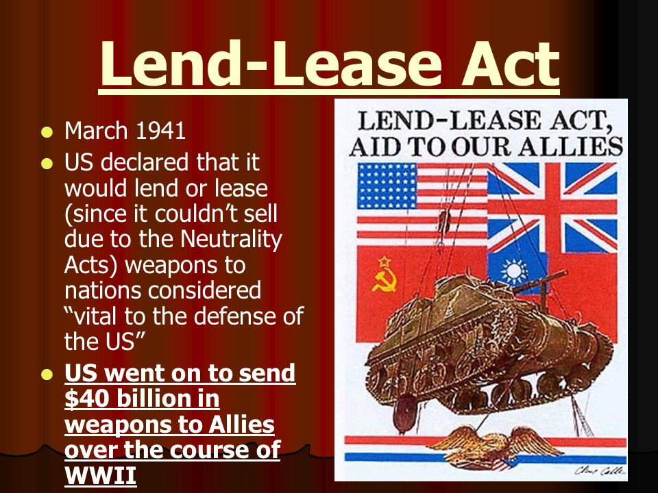 Lend-Lease Act March