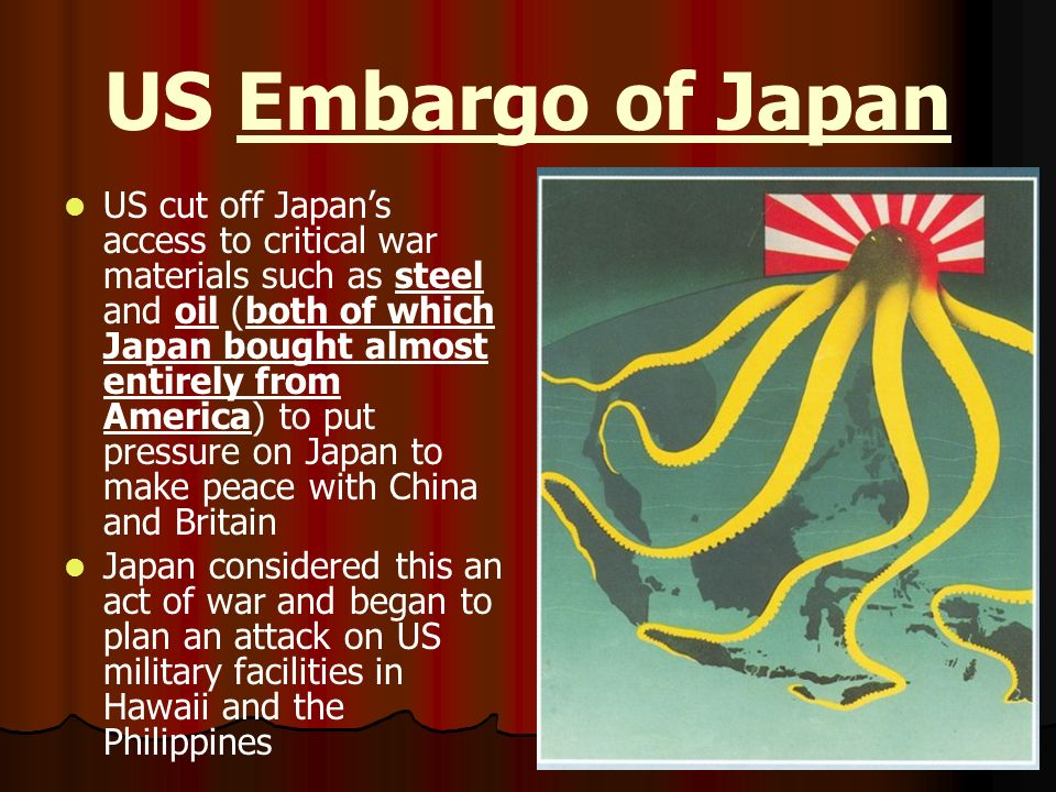 US Embargo of Japan