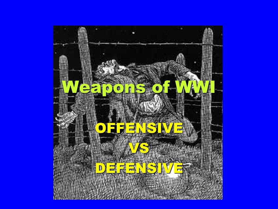 OFFENSIVE VS DEFENSIVE