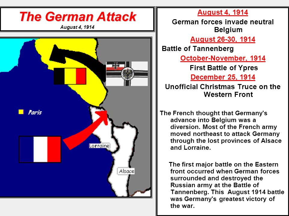 The German Attack August 4, 1914