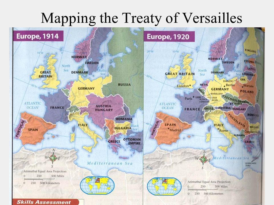 Mapping the Treaty of Versailles