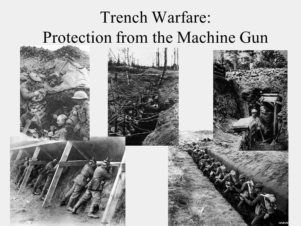 Trench Warfare: Protection from the Machine Gun