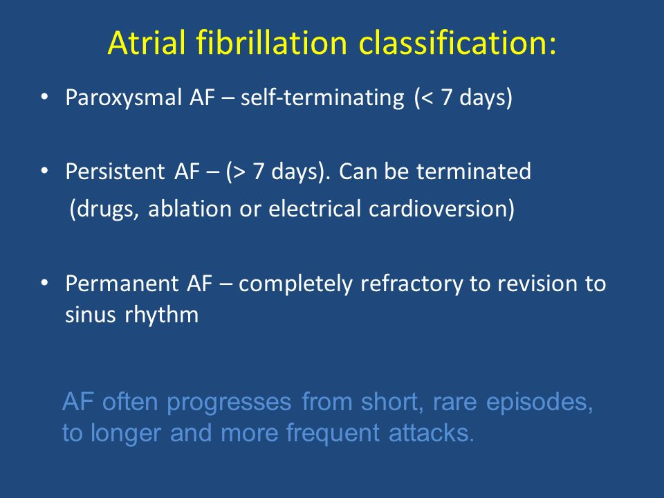 Atrial fibrillation classification: