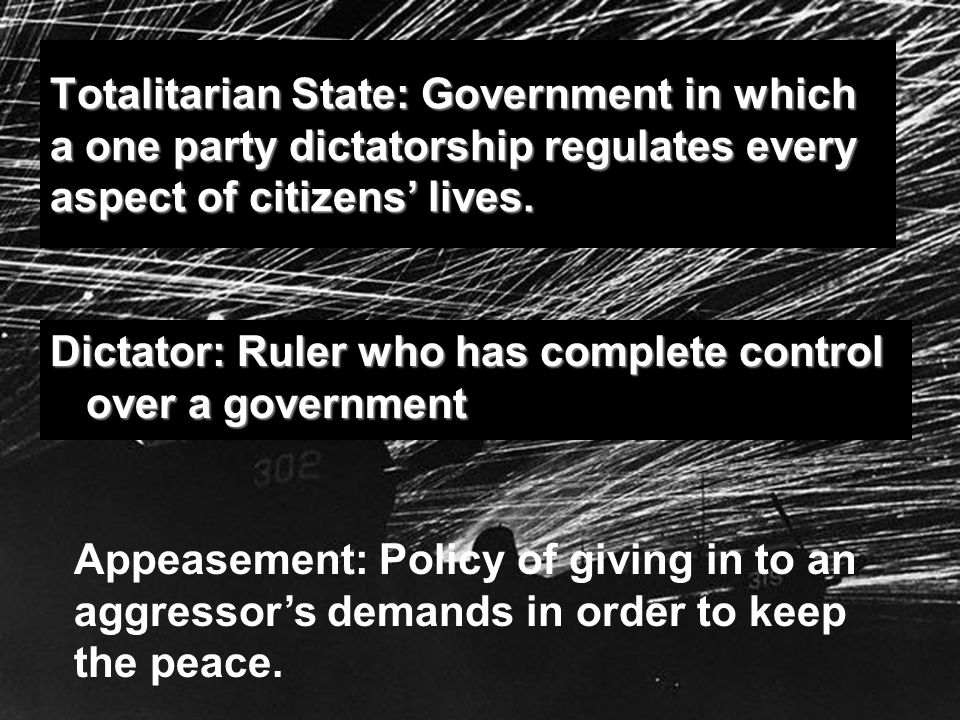 rise of totalitarian governments after world war 1 Mussolini and the rise of fascism fascism arose in europe after world war i when many people yearned for national unity and strong leadership case #1: the government of surs is ruled by one party, whose council of 100 selects the supreme leader.