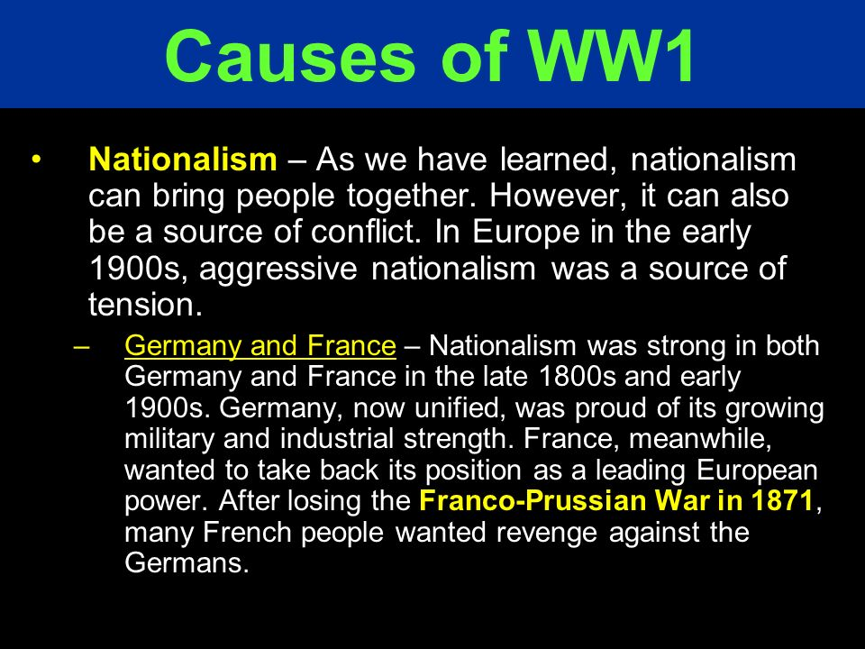 Causes of WW1