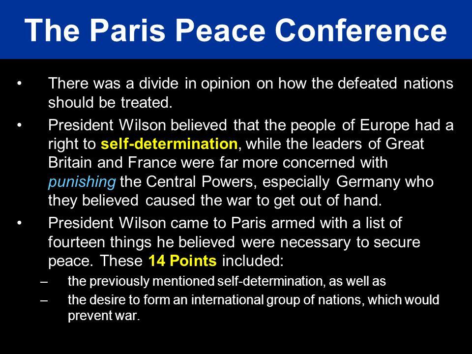 The Paris Peace Conference