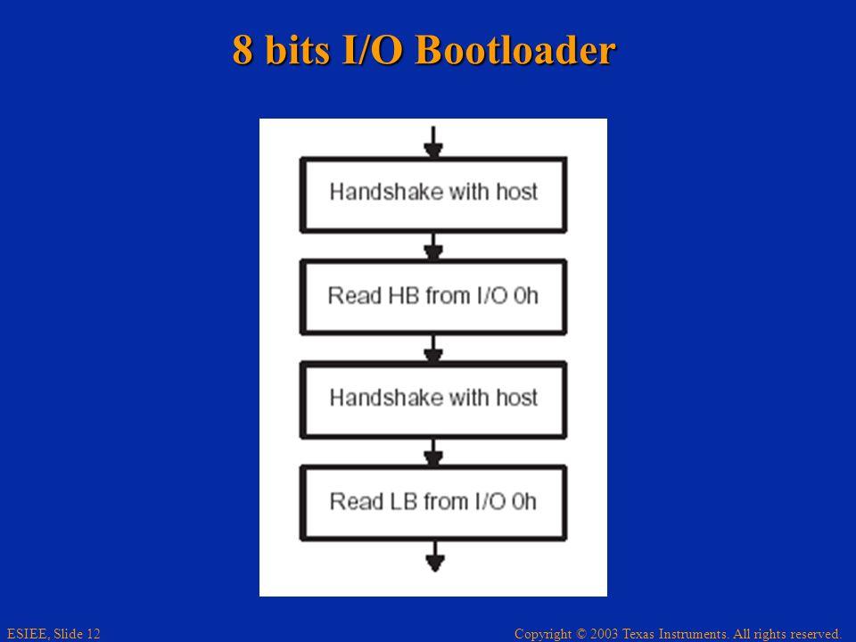 8 bits I/O Bootloader