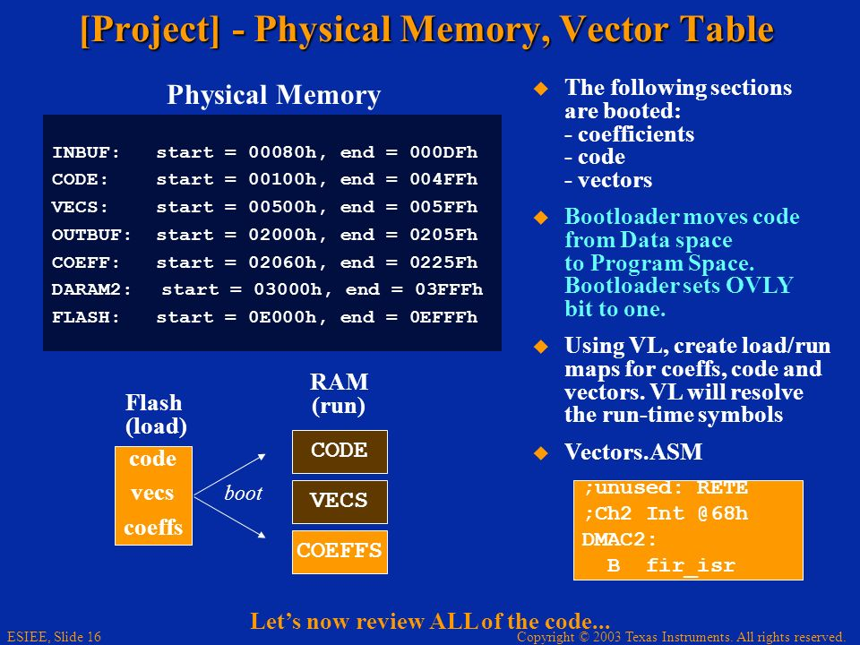 [Project] - Physical Memory, Vector Table