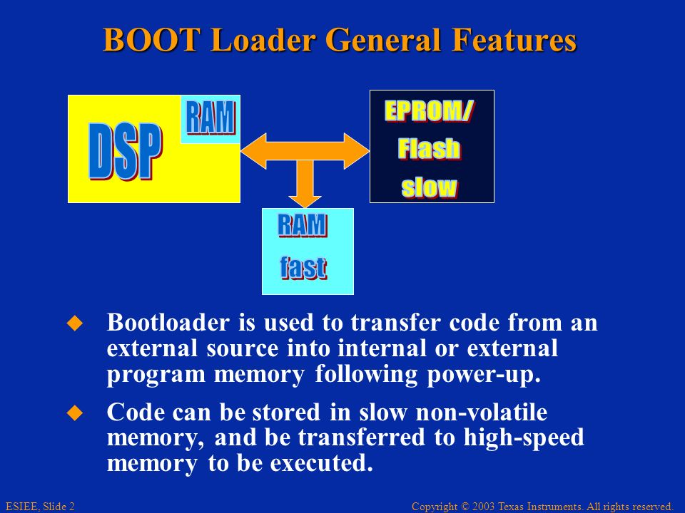 BOOT Loader General Features