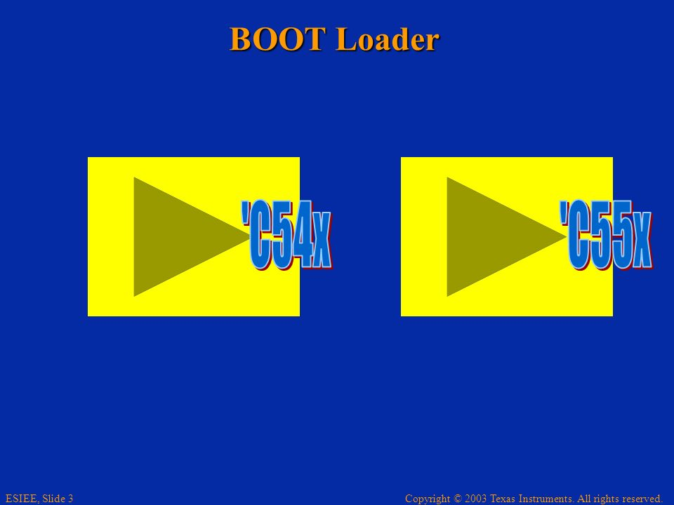 BOOT Loader C54x C55x