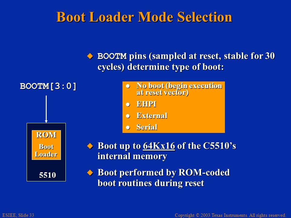 Boot Loader Mode Selection
