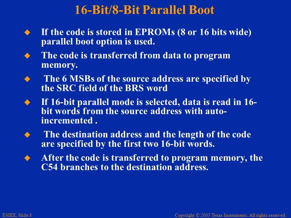 16-Bit/8-Bit Parallel Boot