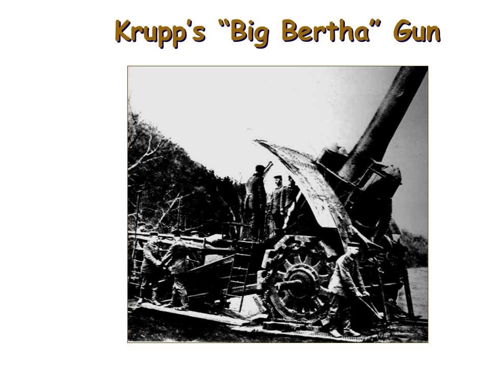 Krupp's Big Bertha Gun