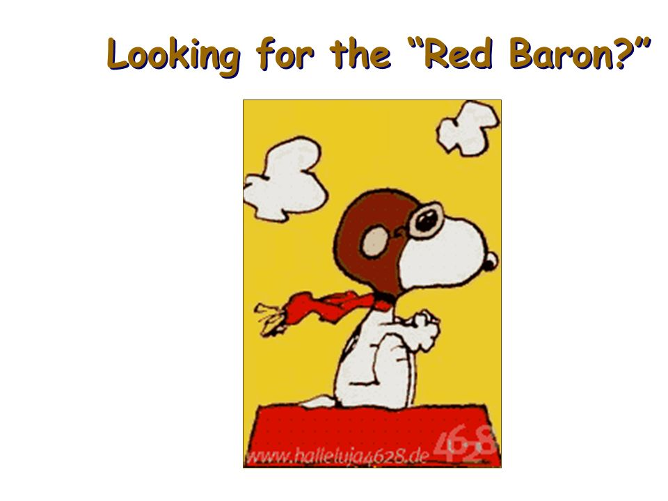Looking for the Red Baron