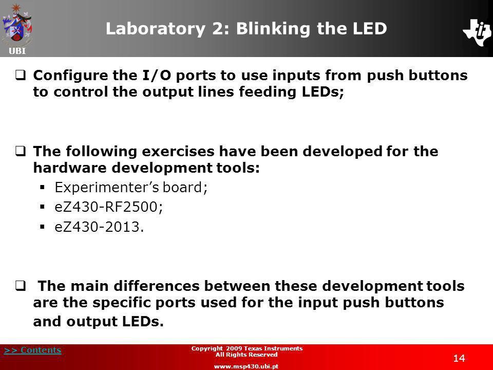Laboratory 2: Blinking the LED