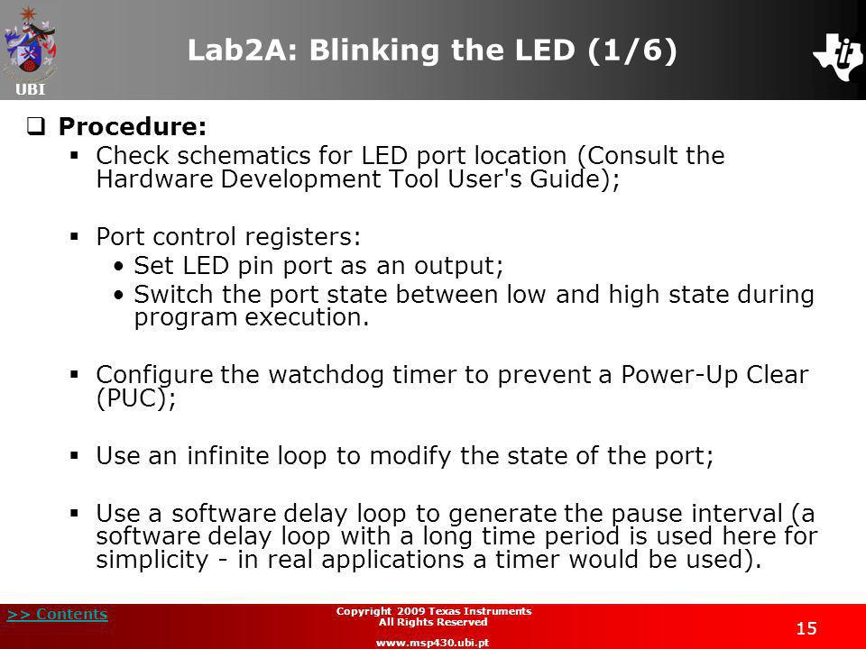 Lab2A: Blinking the LED (1/6)