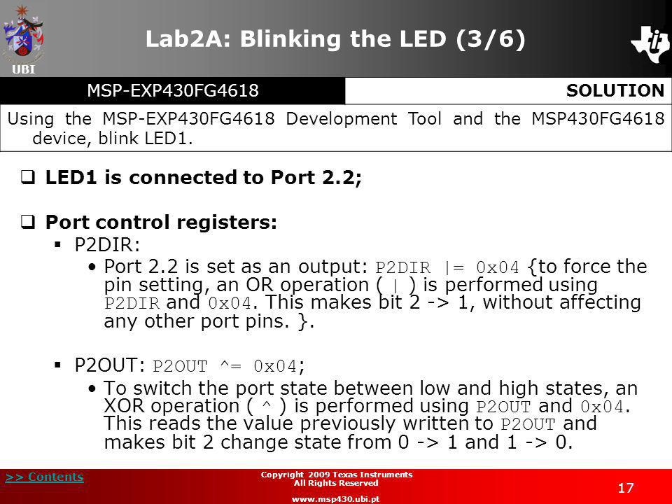 Lab2A: Blinking the LED (3/6)