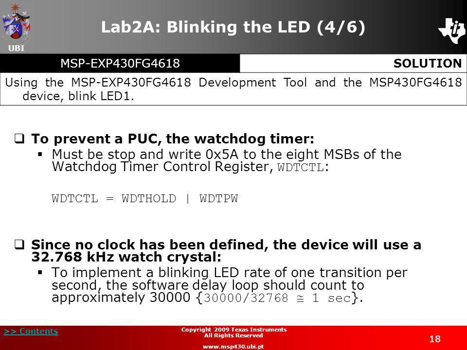 Lab2A: Blinking the LED (4/6)