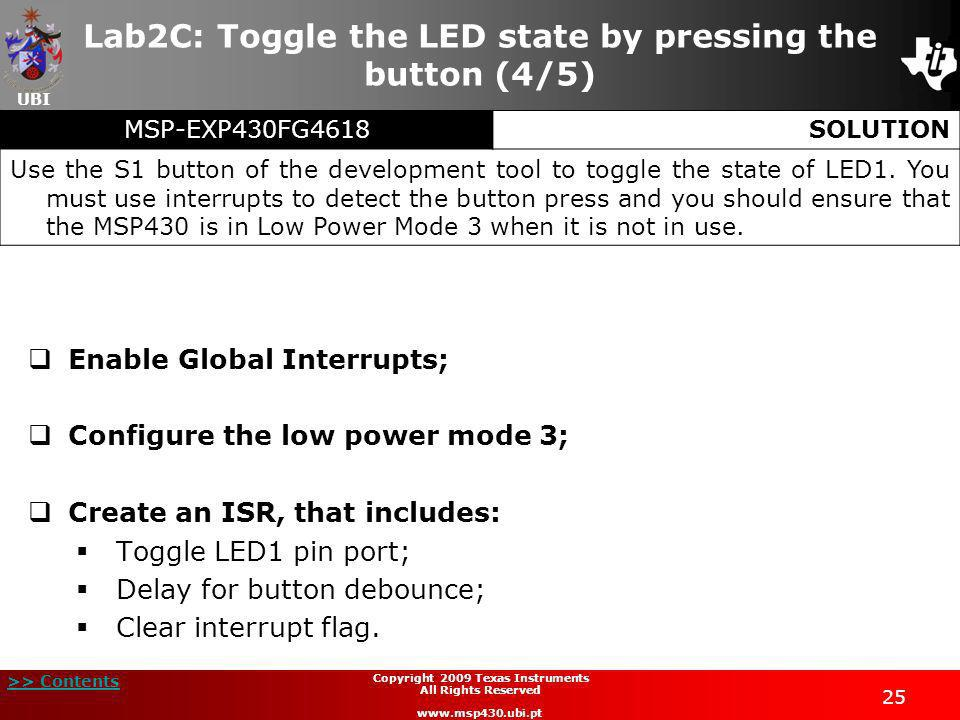 Lab2C: Toggle the LED state by pressing the button (4/5)