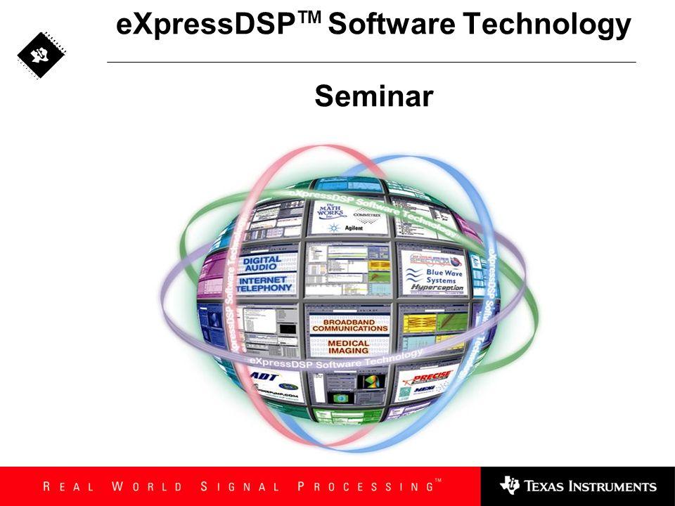 eXpressDSPTM Software Technology Seminar