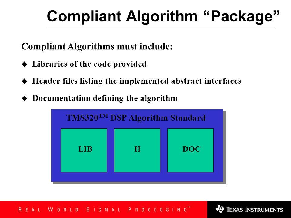Compliant Algorithm Package
