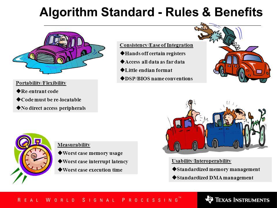Algorithm Standard - Rules & Benefits