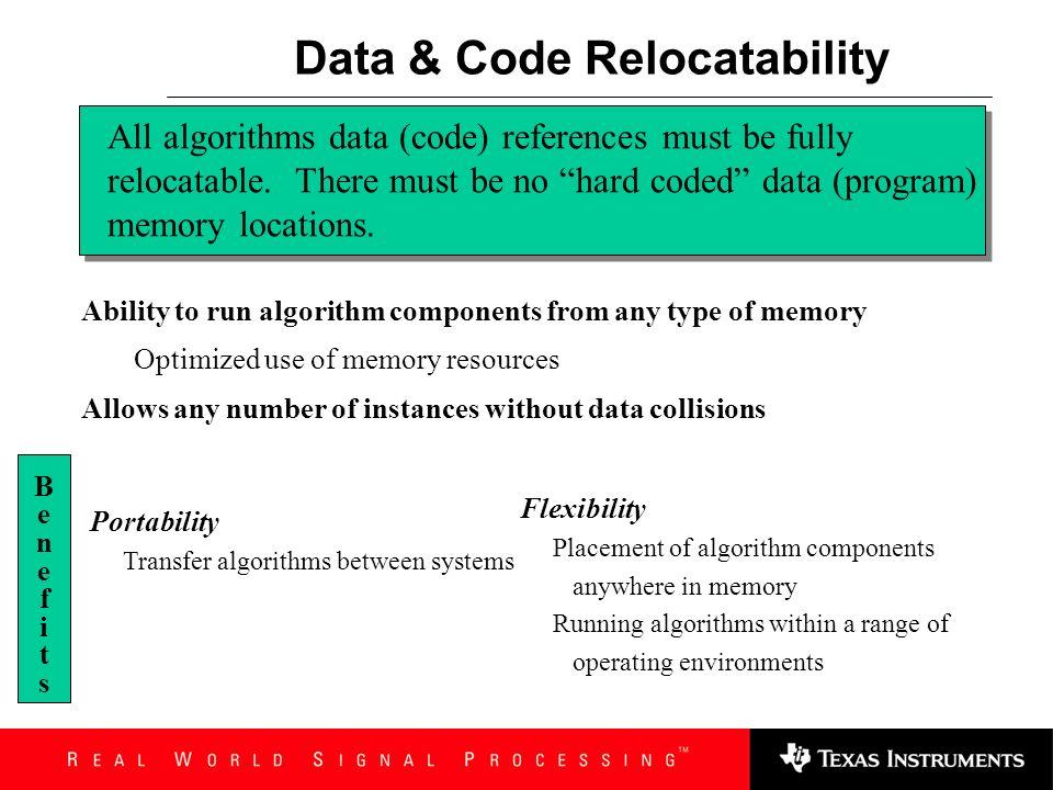 Data & Code Relocatability