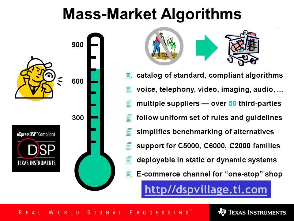 Mass-Market Algorithms