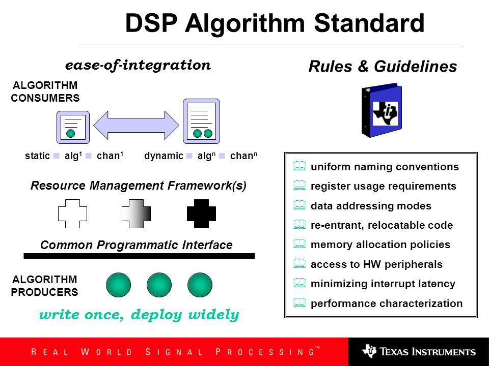 DSP Algorithm Standard