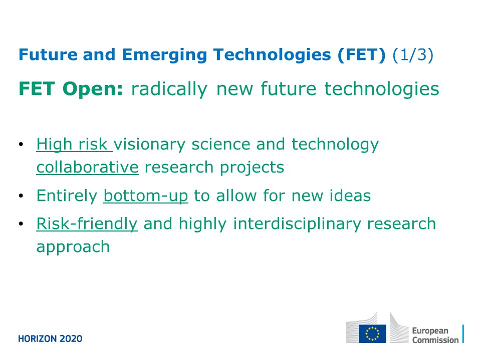 FET Open: radically new future technologies