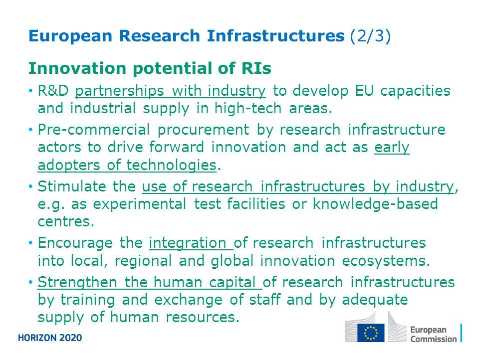European Research Infrastructures (2/3) Innovation potential of RIs