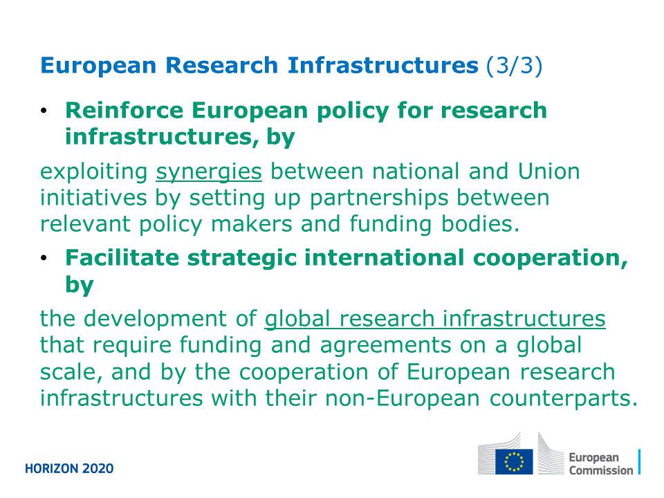 European Research Infrastructures (3/3)