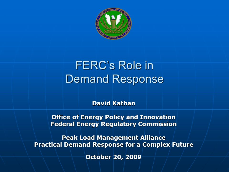 FERC's Role in Demand Response